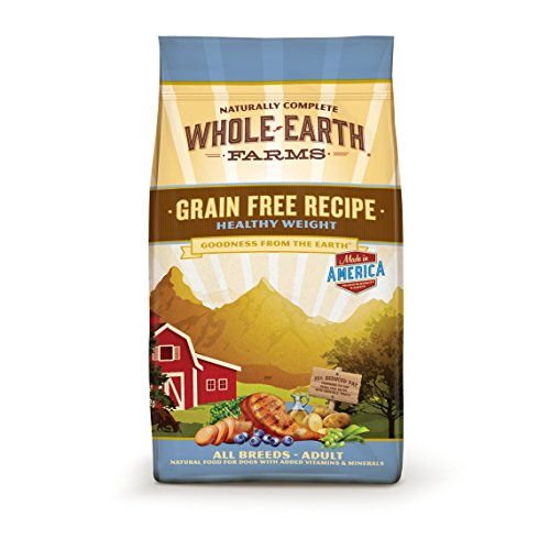 Whole Earth Farms Grain Free Healthy Weight Recipe Dry Dog Food, 25 lbs.