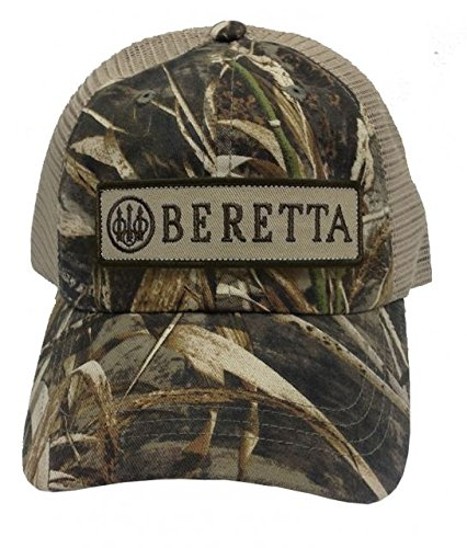 Cap Beretta (Beretta Men's Patch Trucker Hat, Real Tree Max Camo, One Size)