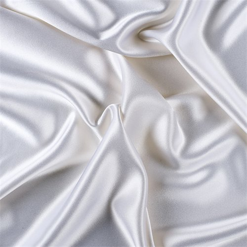 White Silk Crepe Back Satin, Fabric By the Yard ()