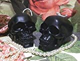 Beeswax Black Skull Candle Free USA Shipping