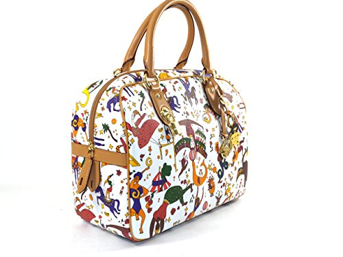Borsa a mano con tracolla removibile Piero Guidi Magic Circus Classic | Bianco | 31 x23 x 13 cm