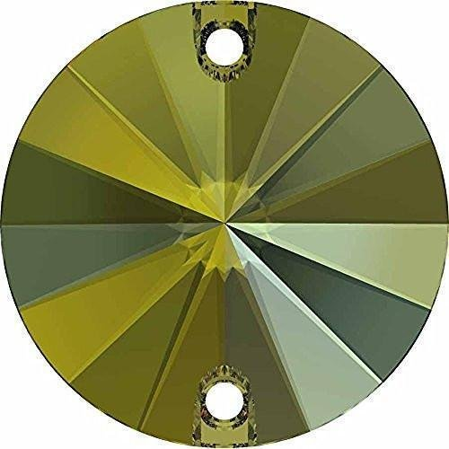 3200 Swarovski Sew On Crystals Rivoli Round - 14mm | Black Diamond | 14mm - Pack of 2 | Small & Wholesale ()