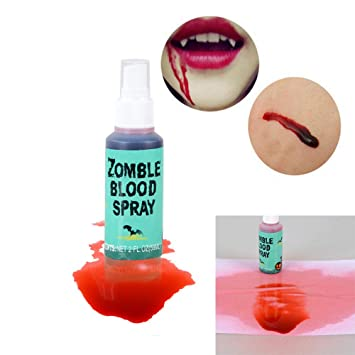 Amazon.com: USHOT Horror Clot Blood MakeUp Halloween Stage False ...