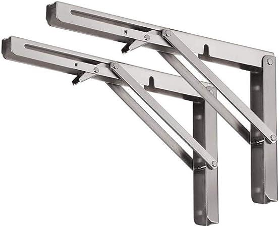 Staffe Pieghevoli Per Tavoli.Kimmyer 2pcs Robusto Pieghevole Mensola Staffe Heavy Duty