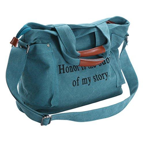 Sucastle Casual bag retro bag handbag Messenger bag shoulder bag canvas bag Sucastle Colour:blue Size:40x31x12cm