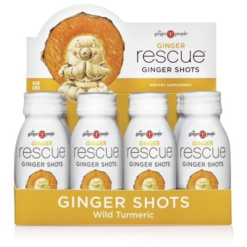 The Ginger People Rescue Shots, Wild Turmeric, 2 Fluid Ounce, 12-pack