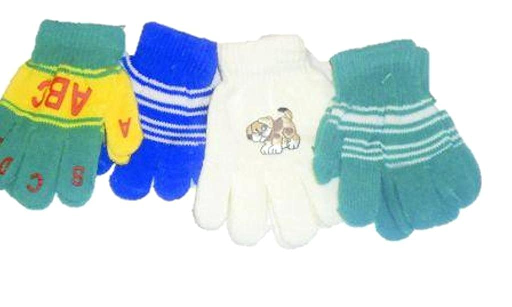Four Pairs Magic Gloves for Infants and Toddlers Ages 1-4 Years