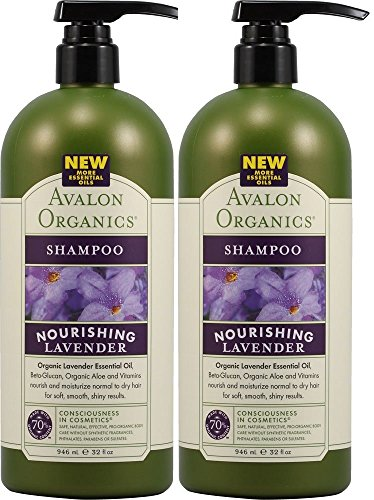 Avalon Organics Shampoo, Lavender, 32 Ounce (Pack of 2) ()