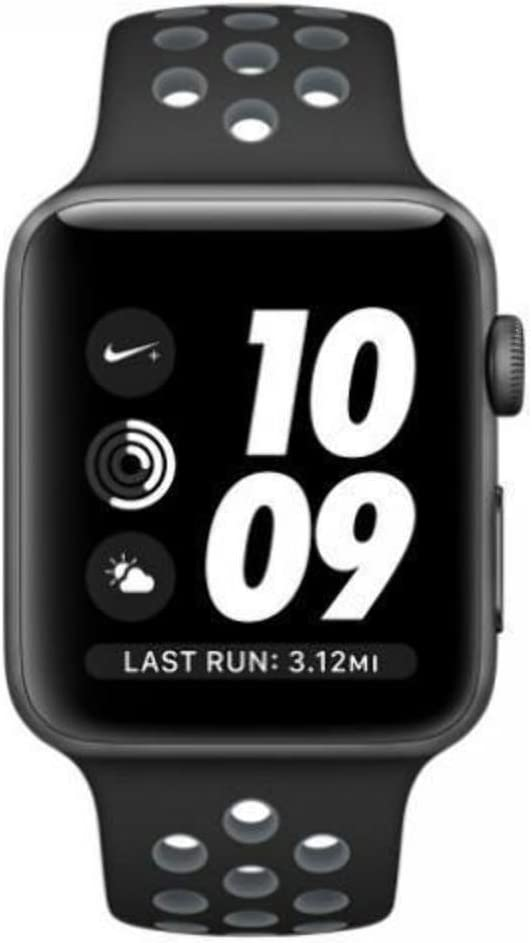 nombre Sucediendo Peladura  Amazon.com: Apple Watch Nike+ 42mm Space Gray Aluminum Case with Black/Cool  Gray Nike Sport Band