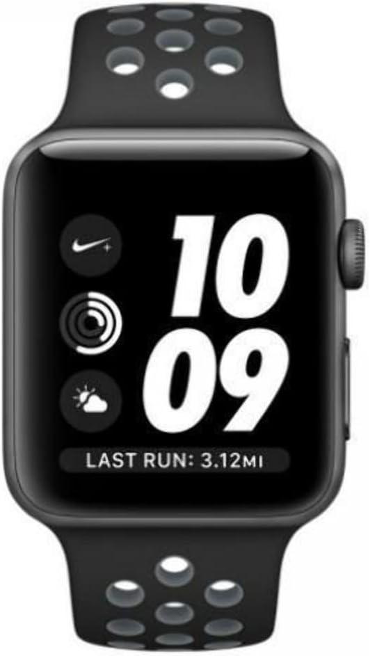 invernadero Abundantemente cascada  Amazon.com: Apple Watch Nike+ 42mm Space Gray Aluminum Case with Black/Cool  Gray Nike Sport Band