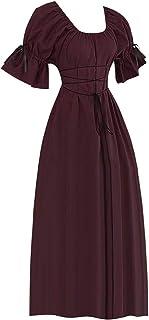 LILICAT✈✈ 2019 Estilo túnica con Capucha Estilo Vintage Vestido Medieval Mujer Vestido Fiesta Mujer Vestidos de 1950 Estampado Vestido Lápiz para Mujer Vintage Retro Vestido Vintage Cuello Halter
