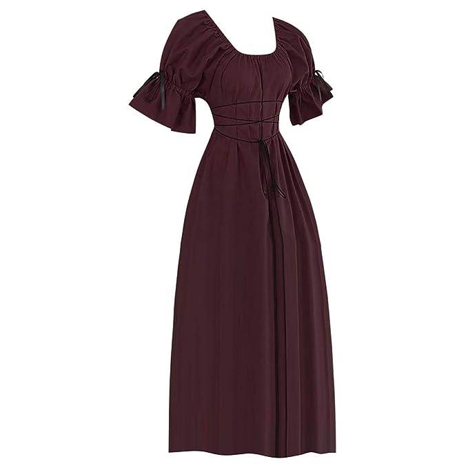 Vestido Medieval Mujer Talla Grande, EUZeo, Vestido Largo de ...