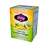 Yogi - Organic Green Tea Lemon Ginger - 16 Tea Bags - Case of 6