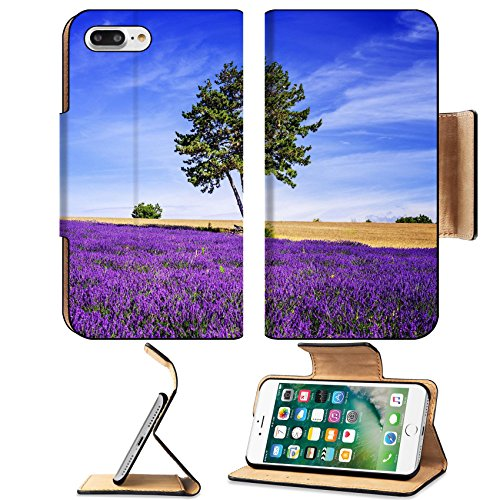 Luxlady Premium Apple iPhone 7 Plus Flip Pu Leather Wallet Case iPhone7 Plus 31667987 Lavender field in Provence near Sault France (Border Provence)