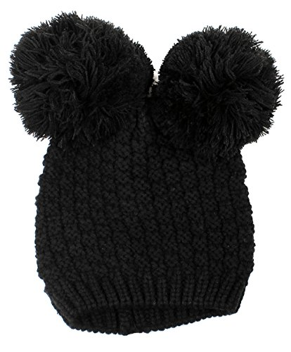 Women's Winter Warm Cable Knit Pompom Ski/Snowboard Beanie Hat