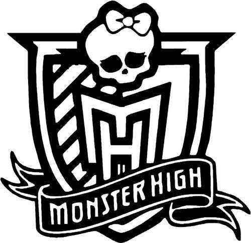 Monster High School Death Skull Bowtie Vinyl Die Cut Decal Sticker for Car Truck Motorcycle Windows Bumper Wall Home Office Decor Size- [6 inch/15 cm] Wide and Color- Gloss Black