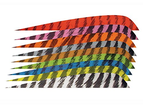 """Gateway New Archery 4"""" Parabolic Right Wing Barred Feathers, Pack of 12 (White)"""