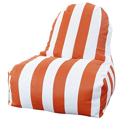 Majestic Home Goods Kick-It Chair, Vertical Stripe, Yellow by Majestic Home Goods (Image #2)