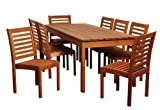 Cheap Amazonia Hawaii 9-Piece Eucalyptus Rectangular Dining Set