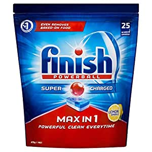 Finish Powerball Max in One Dishwasher Tablets, Lemon Sparkle 25 tablets