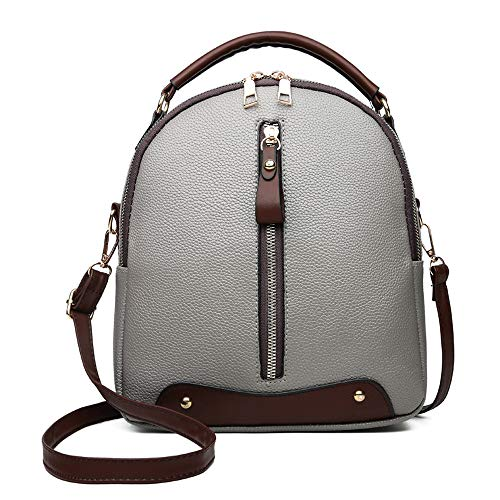 Vintage Leather AgrinTo Bag Bags Gray Women's Backpack Clearance Shoulder Satchel Travel School dTqFAIw
