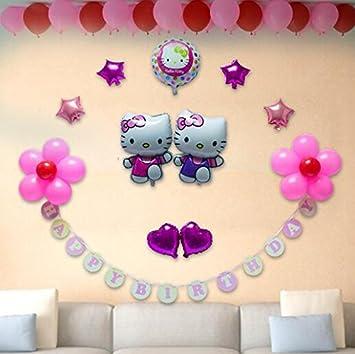 Amazon Com Hello Kitty Happy Birthday Foil Balloon Decoration