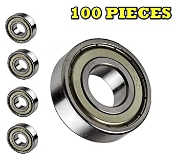 Amazon.com: 100-pieces 6203-zz, Ball Bearing 17 x 40 x 12 mm ...