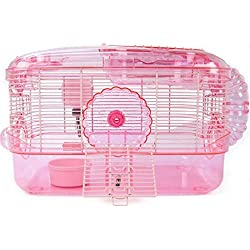 Small Animal Houses Superpet Crittertrail Pink One Level Cage for Hamster & Gerbils