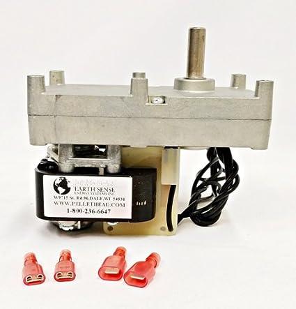 Enviro Fire ef001 pellet estufa Auger alimentación Motor envirofire 1 rpm CW Auger ph-cw1