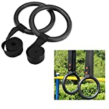 (Ship from US) Shoulder Strength Training Rings GYM Gymnastic Portable Rings