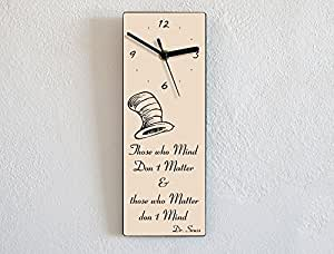 Dr. Seuss - Those Who Mind Don't Matter And Those Who Matter Don'T Mind - Custom Name Wall Clock