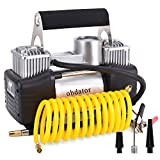 Portable Tire Inflator Air Compressor OBDATOR Double Cylinders Direct Drive Metal Pump 12V 150PSI Air Compressor Pump with Digital Gauge and 3M Extension Air Hose for SUVs, Trucks,Vans, RVs