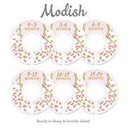 Modish Labels Baby Nursery Closet Dividers, Closet Organizers, Nursery Decor, Baby Girl, Pink, Gold, Confetti