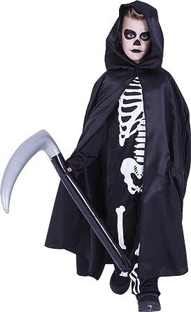 Rubies- Capa morte con guadaña hinchable, Color negro, Talla única ...