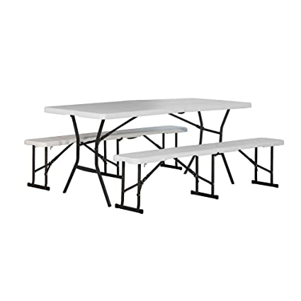 Wondrous Amazon Com Lifetime 6 Ft Fold In Half Picnic Table And Ibusinesslaw Wood Chair Design Ideas Ibusinesslaworg