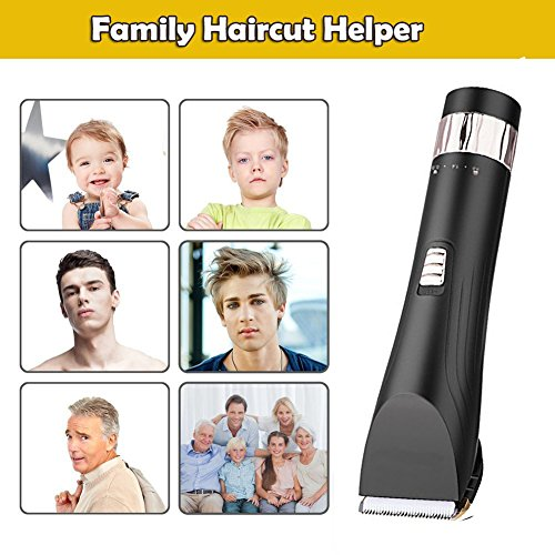 2018 New Version Professional Trimmer Professional Hair Clippers Cordless Rechargeable Hair Trimmer for Men Kids Precision Fade Clipper Loaded with Features 5 Adjustable Blade 8 Guide Combs LCD