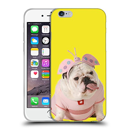 GoGoMobile Coque de Protection TPU Silicone Case pour // Q05800625 Bulldog anglais Giallo canarino // Apple iPhone 6 4.7""