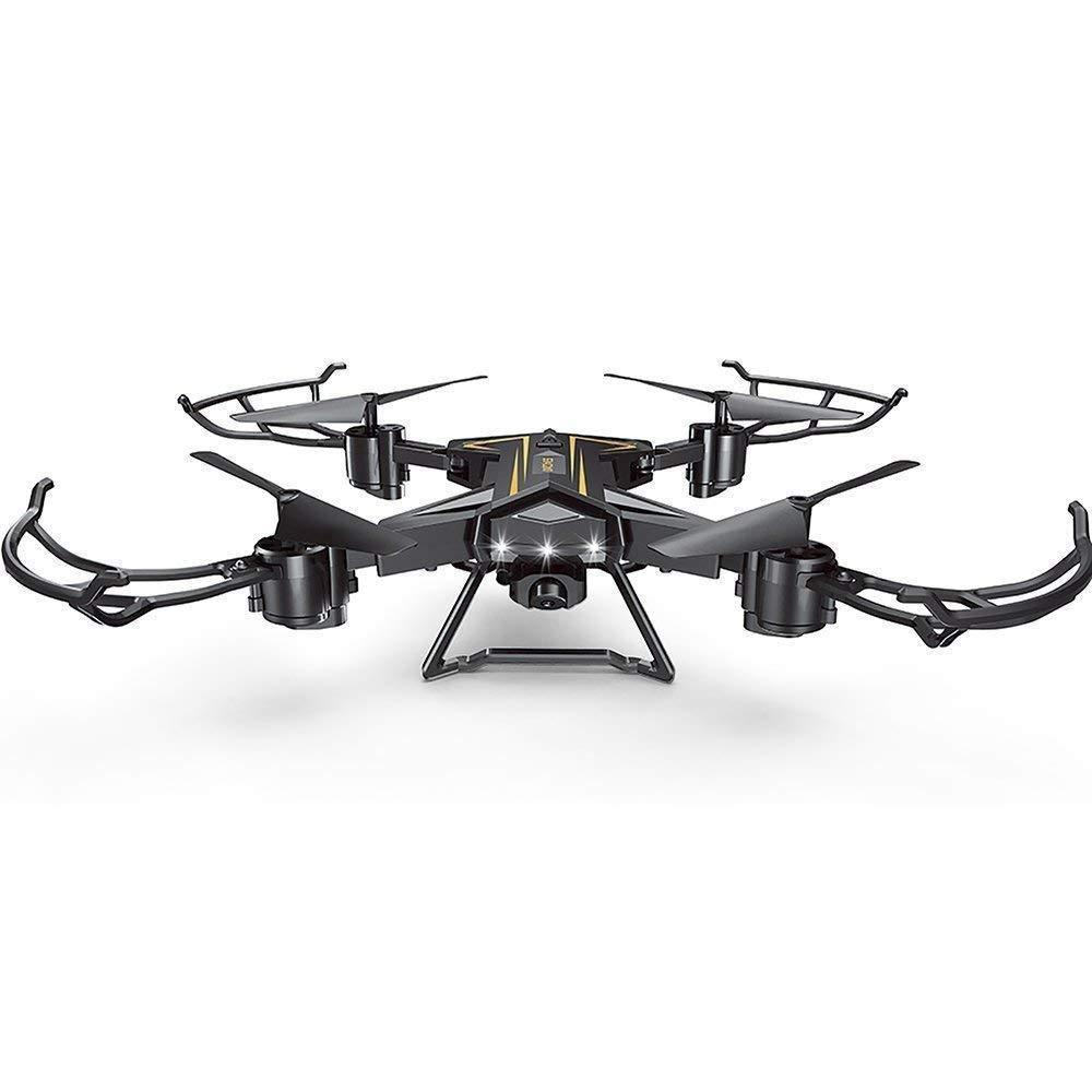 CN Deexop Rc-Drohnen 2.4Ghz 4Ch 6-Achsen-Gyro-Fernbedienung Quadcopter FPV WiFi Faltbare Rc-Drohne Mit 2Mp Hd-Kamera 3D-Flip-Rc-Drohne,A,Einheitsgröße