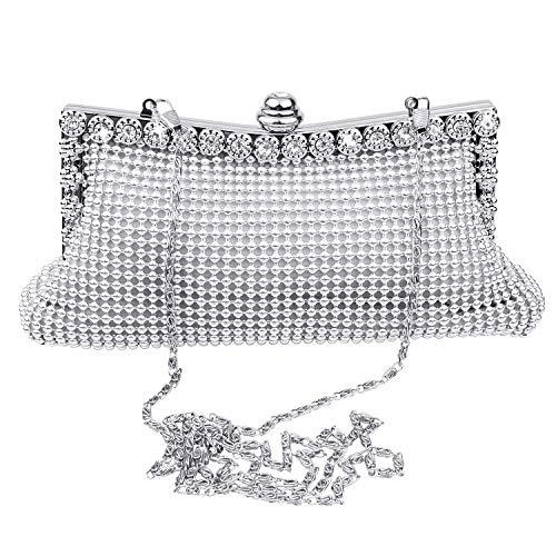 SelfTek Crystal Clutch Sparkly Purse Evening Party Wedding Handbag Bag ()