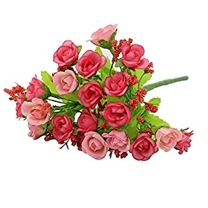 Artificial & Dried Flowers - Artifical Rose Weeding Party Home Decor Silk Flower 5 Colors - Spring Sale Real Wall Decorations Orange Miller Cemetery Lilies Colored Vase Long Gray Outdoors Ho 25