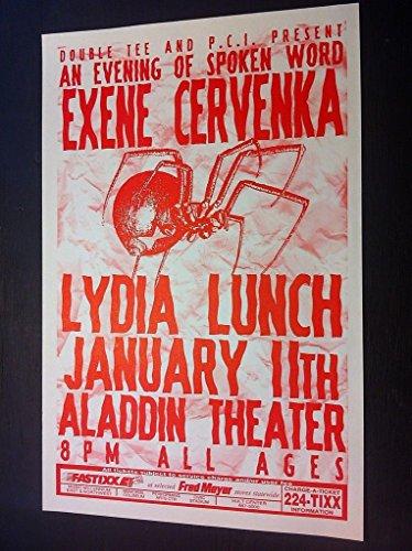 Exene Cervenka X John Doe Lydia Lunch Punk Spoken Word Rare Concert Tour Poster from ConcertPosterArt