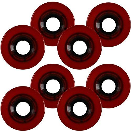 Roller Skate Quad Wheels SET OF 8 56mm x 32mm Red 85a