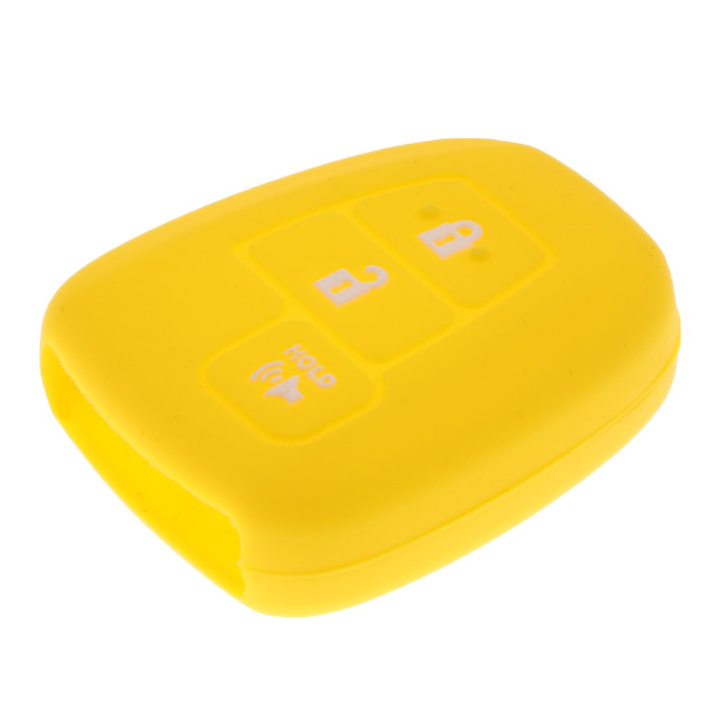 MagiDeal Car 3 Buttons Key Silicone Case Cover For Toyota Prius C RV-4 - Stronge Yellow