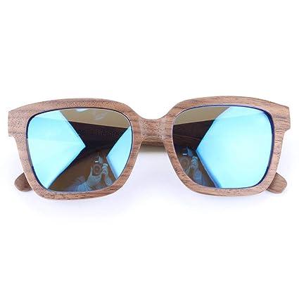 Gafas sol Madera de bambú Gafas polarizadas de Madera de Nogal Negro Hombres y Mujeres Gafas