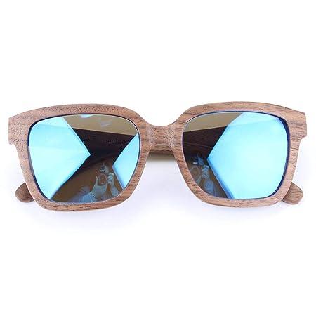 619c2e0eab8 SUNGLASSES Bamboo Wood Black Walnut Wood Polarized Glasses Men and Women Outdoor  Sports Eyewear Polarized glasses (Color   Blue)  Amazon.co.uk  Kitchen   ...