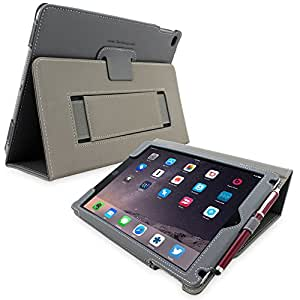 Snugg iPad 3 & 4 Case - Smart Cover with Flip Stand & Lifetime Guarantee (Grey Leather) for Apple iPad 3 and 4