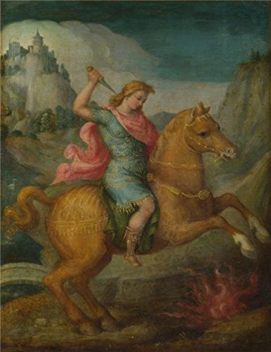 [Perfect Effect Canvas ,the Amazing Art Decorative Prints On Canvas Of Oil Painting 'Bacchiacca - Marcus Curtius,about 1520-30', 30x39 Inch / 76x99 Cm Is Best For Study Decor And Home Decoration And Gifts] (Costume Design Programs London)
