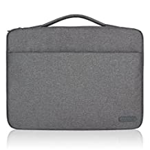 Arvok 15 15.6 16 Inch Water-resistant Canvas Fabric Laptop Sleeve With Handle Zipper Pocket/Notebook Computer Case/Ultrabook Tablet Briefcase Carrying Bag For Acer/Asus/Dell/Lenovo/HP/Samsung(Gray)