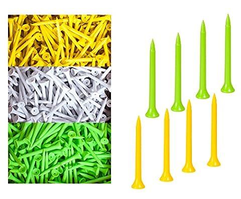 4000 Pcs Biodegradable Plastic Golf Tees 2 3/4 Inch, 70mm 2.75