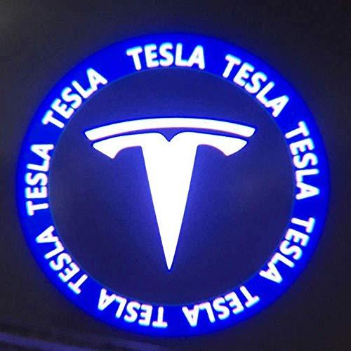 Foonee Tesla Model 3 Car Door LED Light Shadow Projector Welcome Lamp Logo Light No Drilling Required 2 Pack